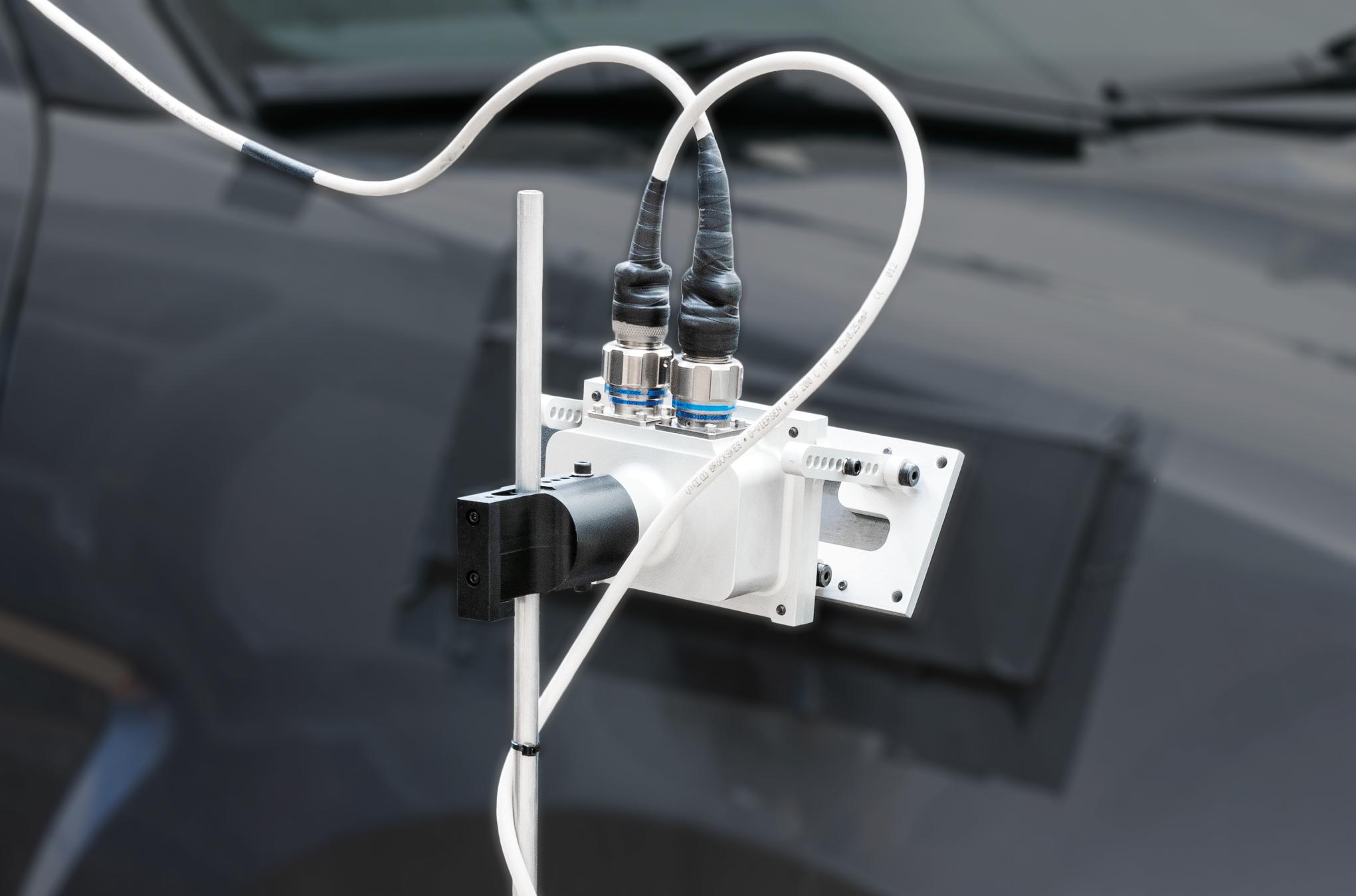 Stator Angle Correction Device for Wheel Force Tranducer